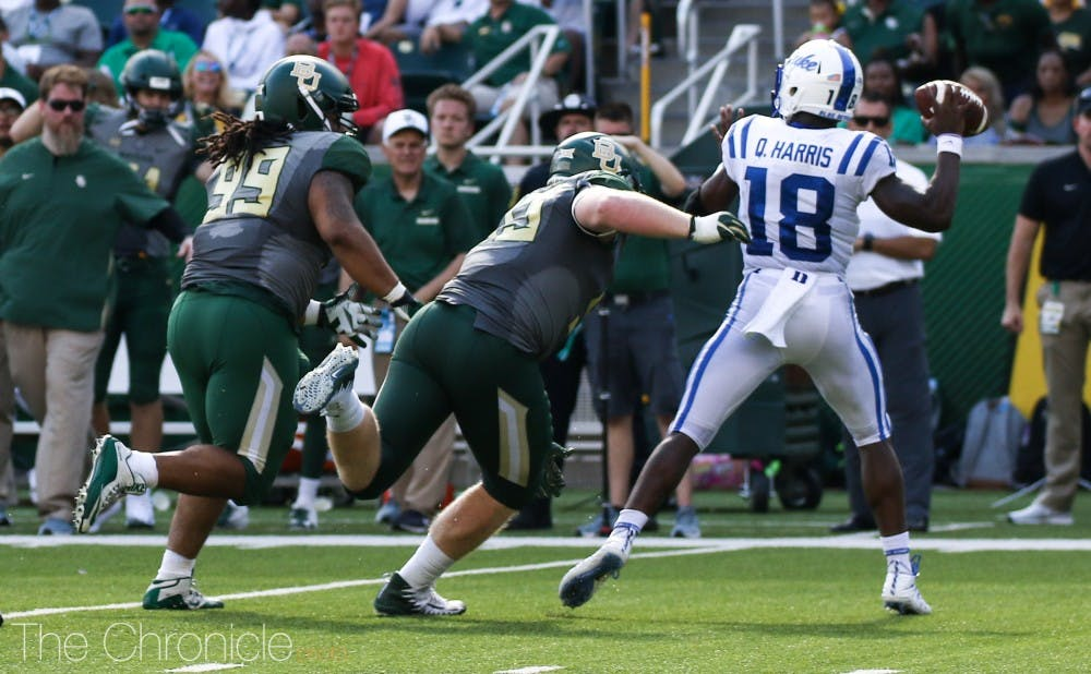 <p>Quentin Harris impressed in Duke's victory over Baylor.</p>