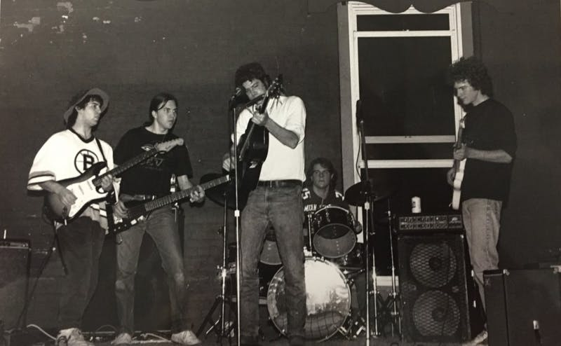 Old 1980's photos from the Coffeehouse show a rocker atmosphere with students lounging and enjoying music, much like today.