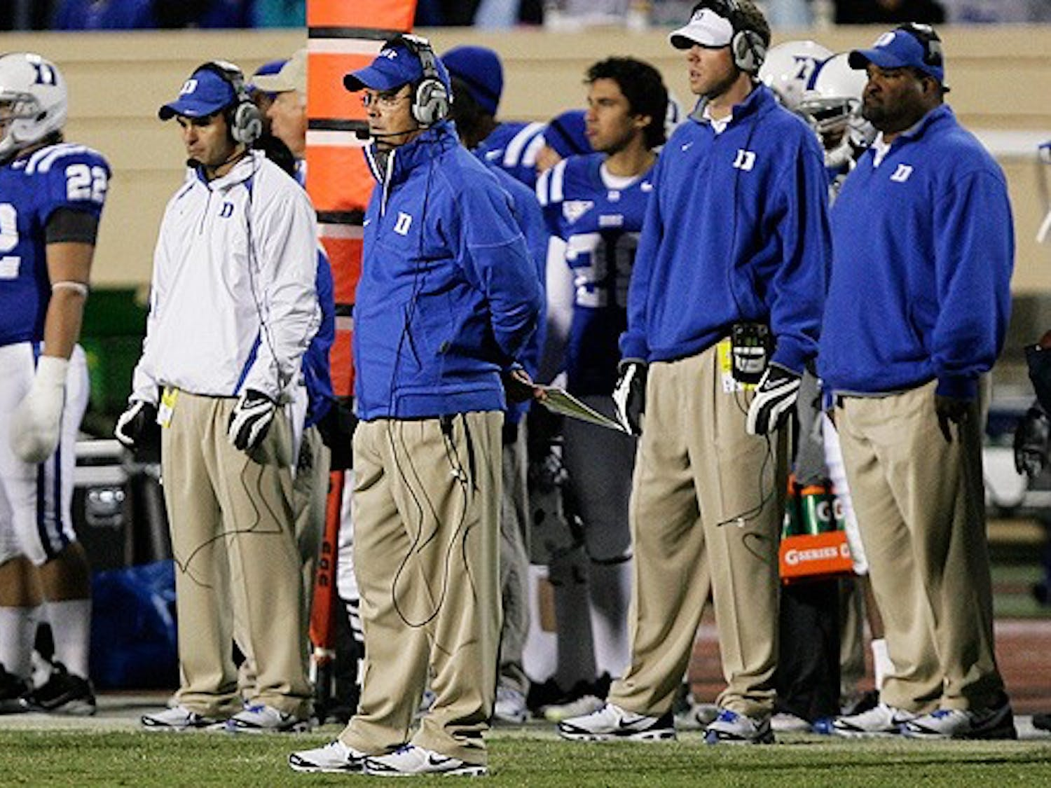Senior safety Matt Daniels, along with Lee Butler, Donovan Varner, Jay Hollingsworth and Johnny Williams, highlight the seniors entering their final campaign with the Blue Devils.