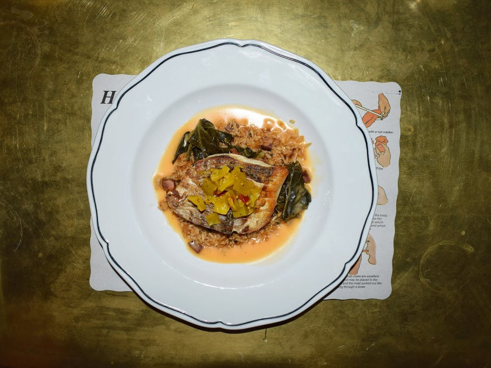 Our critic tried the wild striped bass as well as oysters.