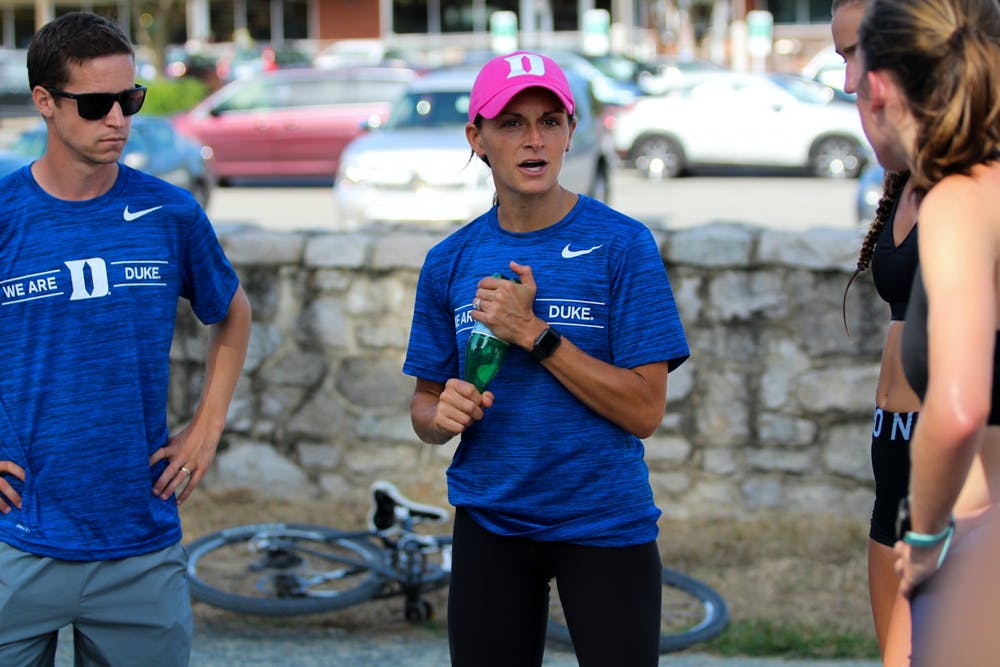 Angela Reckart is entering her first season as head coach of the Duke men's and women's cross country teams.
