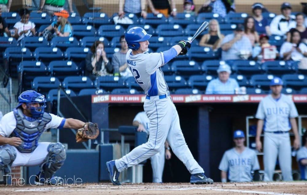 Erikson Nichols' three-run home run in the fourth inning gave Duke the lead for good Friday.
