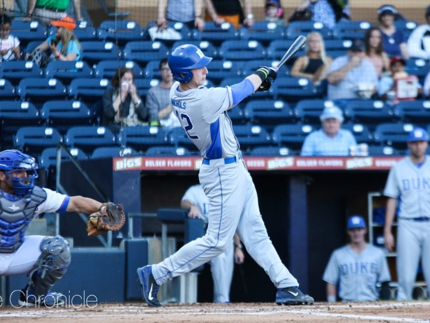 Erikson Nichols' three-run home run in the fourth inning gave Duke the lead for good Friday.