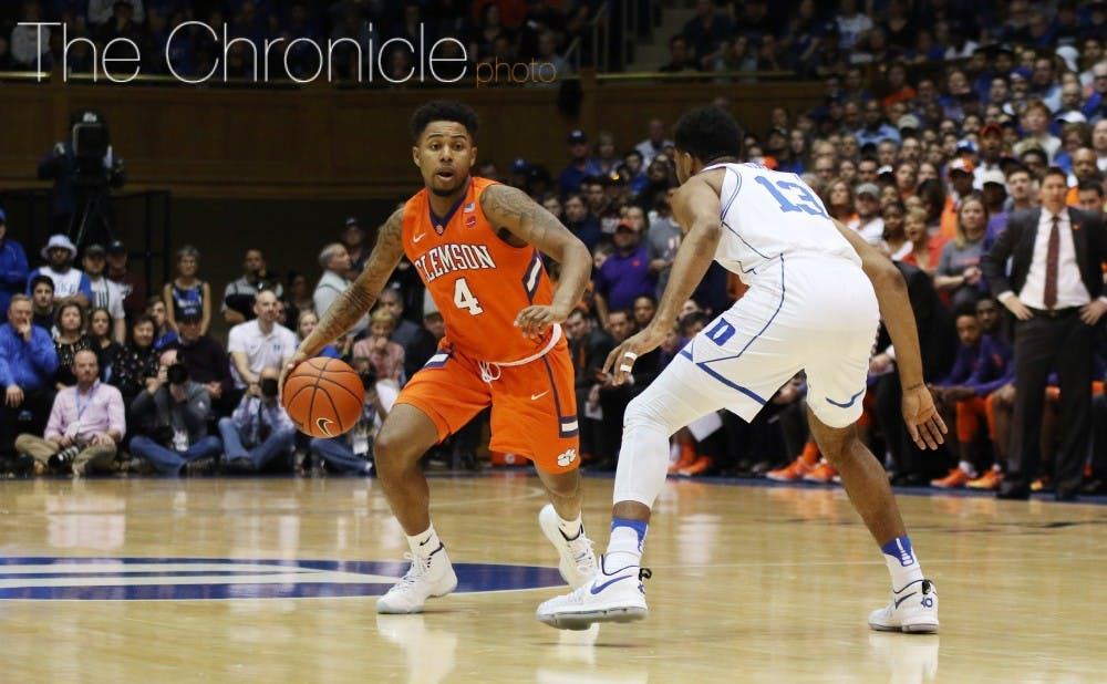 <p>Shelton Mitchell gave the Blue Devils fits in the second half, scoring 21 of his career-high 23 points after halftime.&nbsp;</p>