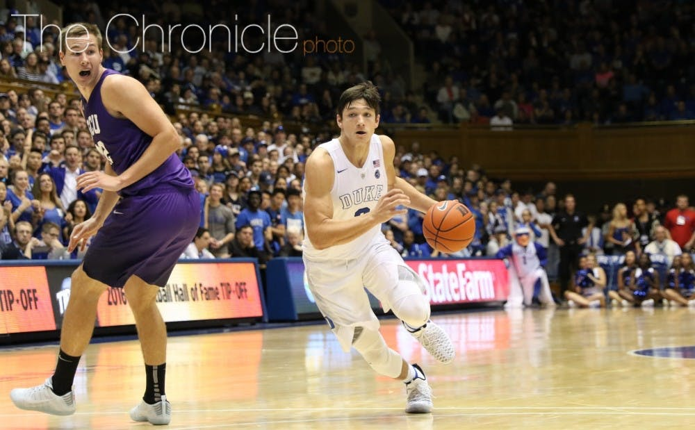 <p>Junior guard Grayson Allen has been suspended indefinitely after tripping another player.&nbsp;</p>
