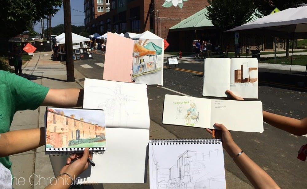Draw Durham holds sketchwalking sessions for students and faculty in Durham. The group hopes to foster a visual arts community where students can pursue art in a social setting, as well as offer critiques.