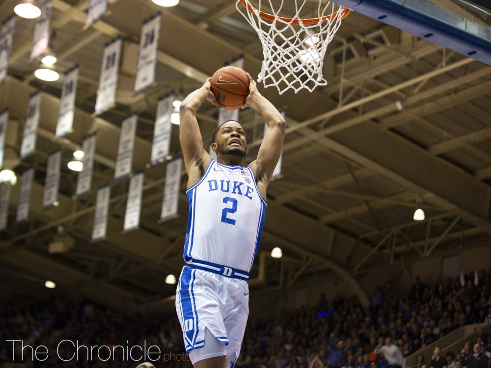 Duke moved up two spots in the latest AP poll.