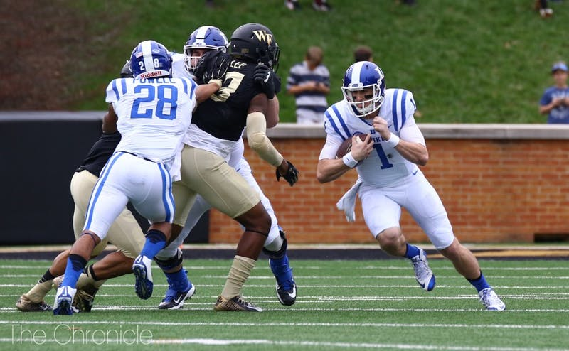 Former Duke quarterback Thomas Sirk returned to Durham to work out as a tight end in front of NFL scouts Tuesday.
