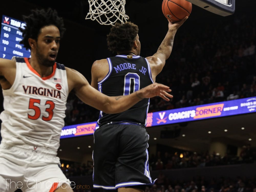 <p>Wendell Moore Jr. has elevated his game in ACC play.</p>