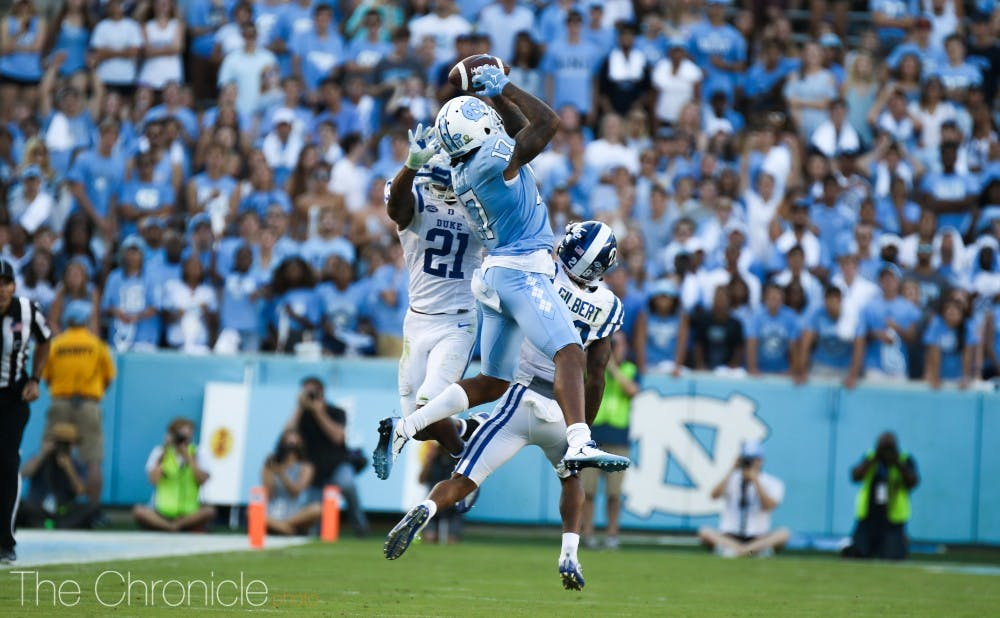 Wide receiver Anthony Ratliff-Williams has once again been the Tar Heels' most dangerous deep-ball threat this season.
