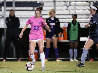 Freshman Delaney Graham scored the first goal of her career early in the second half to briefly equalize the match.