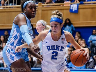 Gorecki led Duke in points, rebounds, assists and steals against North Carolina Thursday night