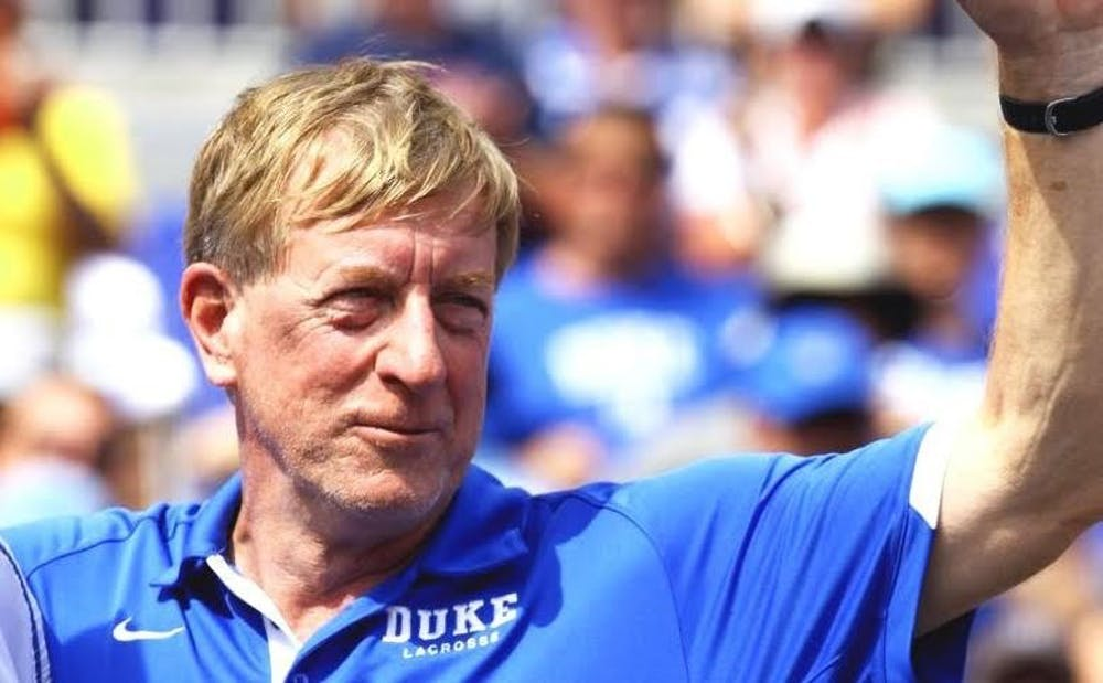 <p>Duke head coach John Danowski led the Blue Devils to eight straight Final Fours from 2007 to 2014, including&nbsp;three national championships.&nbsp;</p>
