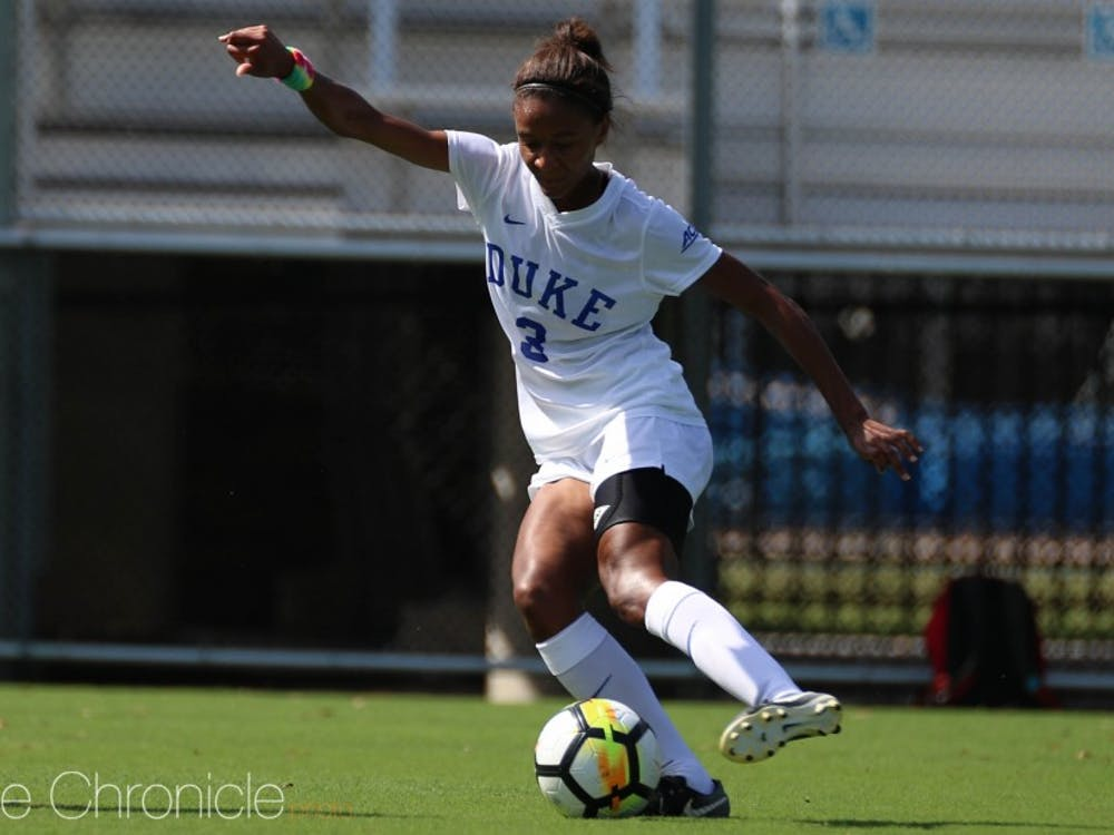 Senior Imani Dorsey has scored in eight different games for Duke this year.