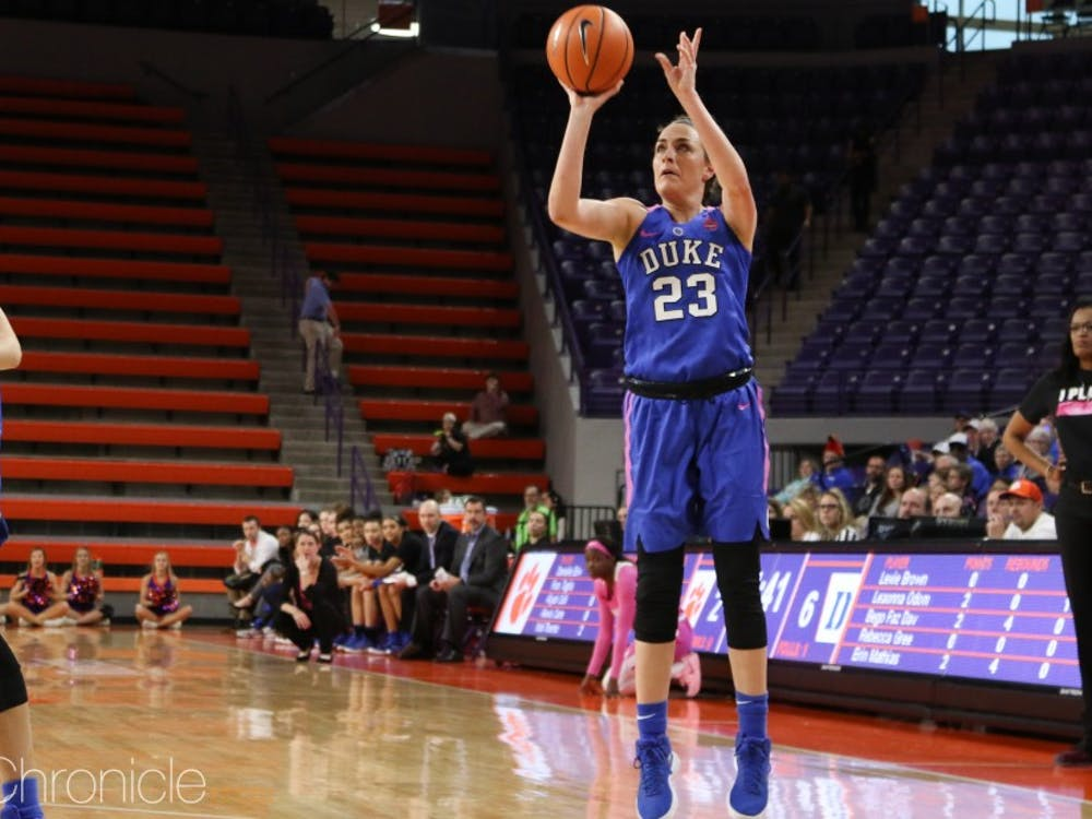 Rebecca Greenwell will play her last true road game at Duke Thursday night.