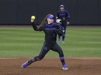 Junior Caroline Jacobsen led the Blue Devils at the plate this past weekend.