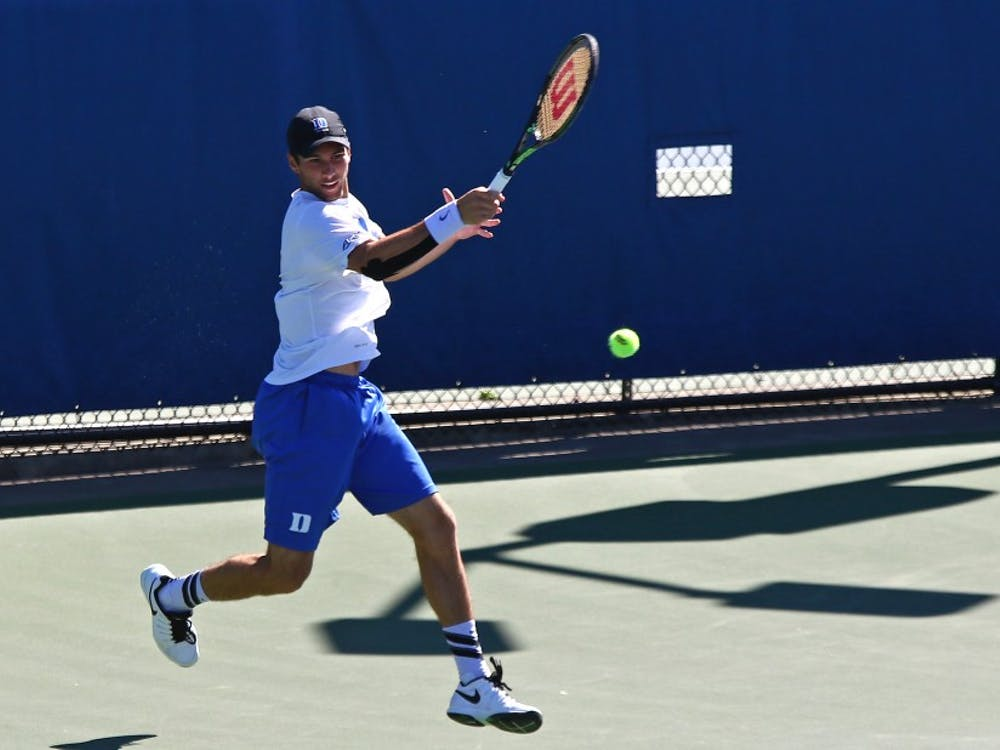 The Blue Devils took the Cavaliers to three sets on four of the six singles courts, but fell on all four as No. 3 Virginia beat Duke 6-1 Sunday.