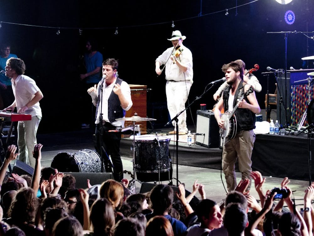"""Mumford & Sons, pictured performing in 2012, released their fourth studio album """"Delta"""" Nov. 16."""
