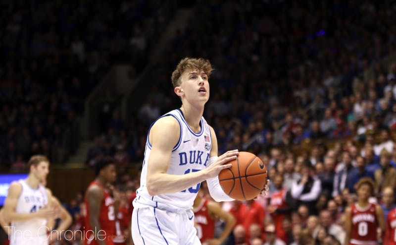 Alex O'Connell leads the Blue Devils at the line this season with an 83.3 percent conversion rate.