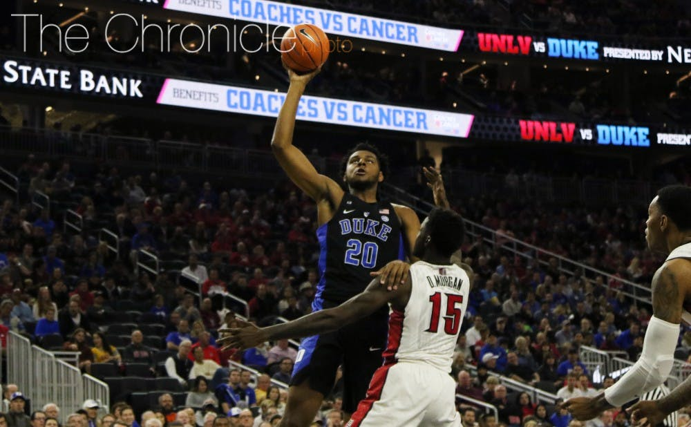 <p>Freshman Marques Bolden and the Blue Devils just recently started practicing with a full complement of players due to injuries.&nbsp;</p>