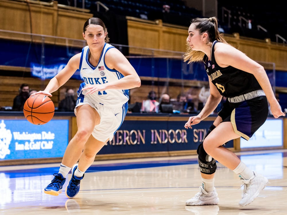 Graduate student Sara Anastasieska paced the Blue Devils offensively.