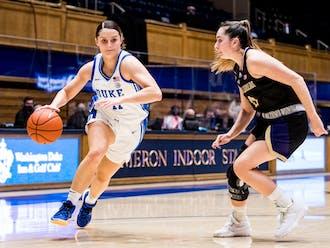 Graduate student Sara Anastasieska paced the Blue Devils offensively.