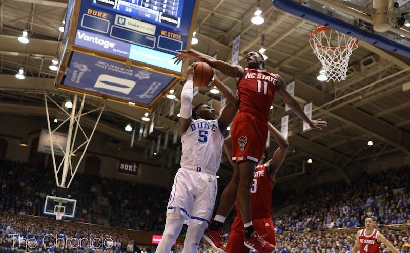 R.J. Barrett did it all on the court Saturday.