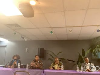 DeDreana Freeman, Marion T. Johnson, Sylvester Williams and AJ Williams at Tuesday's Meet the Candidates Forum.