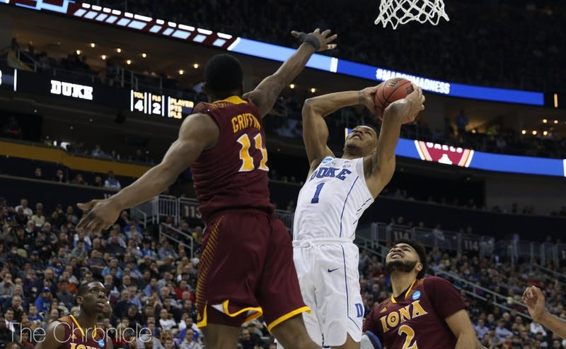 Duval dropped 19 points and added seven assists in Duke's win against Iona.