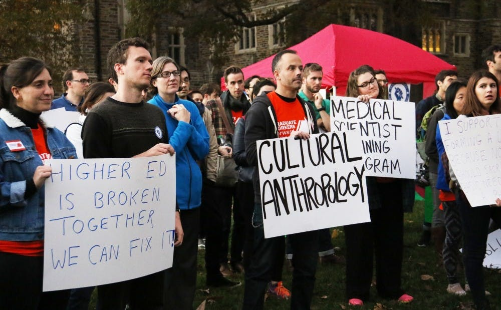 <p>The Duke Graduate Student Union recently won the right to a union election after a National Labor Relations Board ruling Wednesday in their favor.&nbsp;</p>