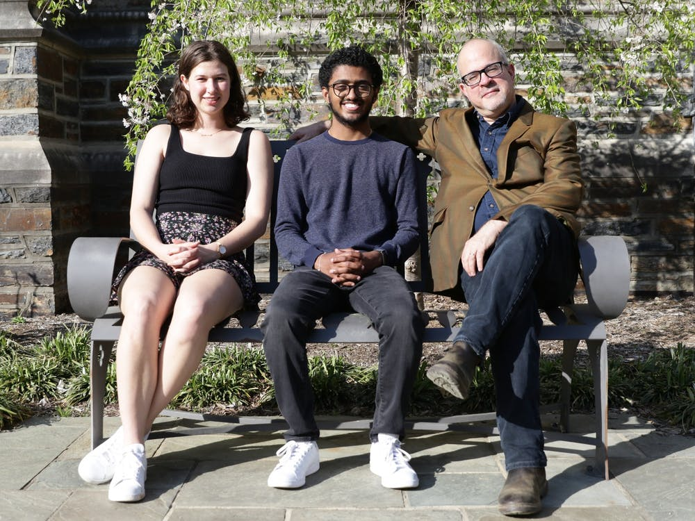 <p>Juniors Anne Crabill and Ishaan Kumar are teaching a house course on the politics, history and societal implications of vaccines, with Misha Angrist, associate professor of the practice at Social Science Research Institute, as their faculty advisor.</p>