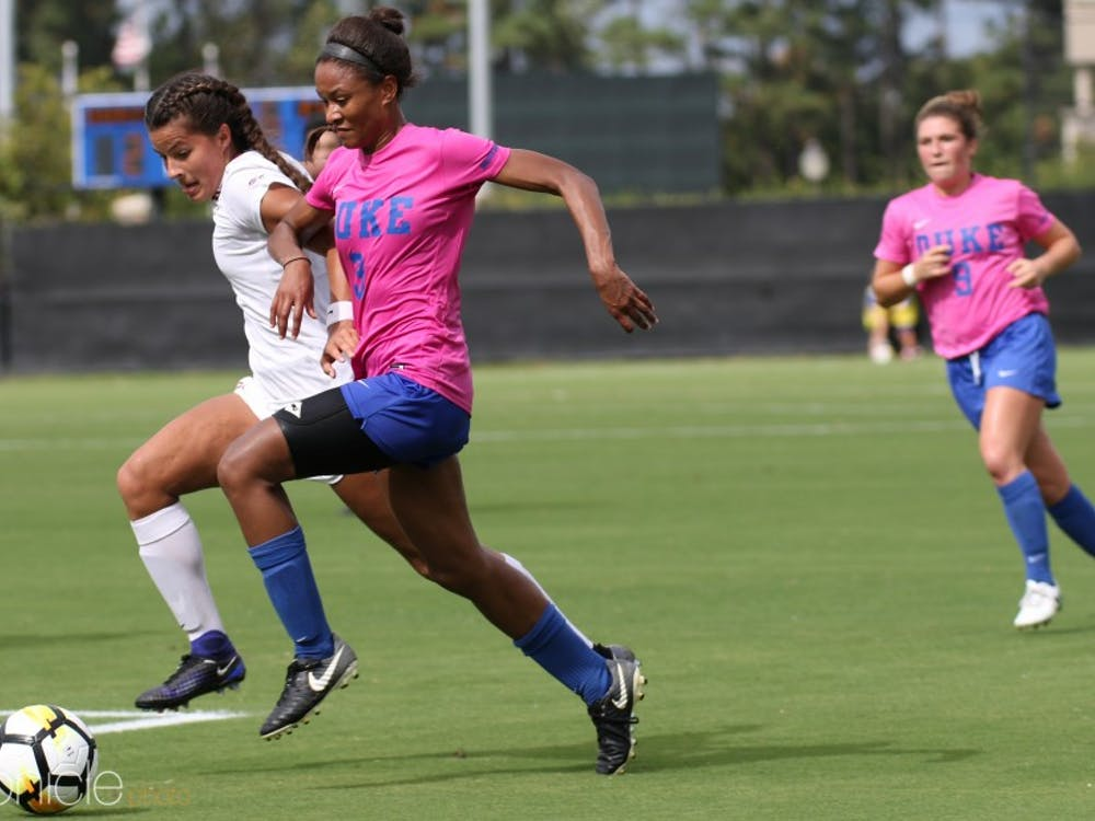 Imani Dorsey is battling a lingering muscle injury, but still scored her ninth goal of the season.