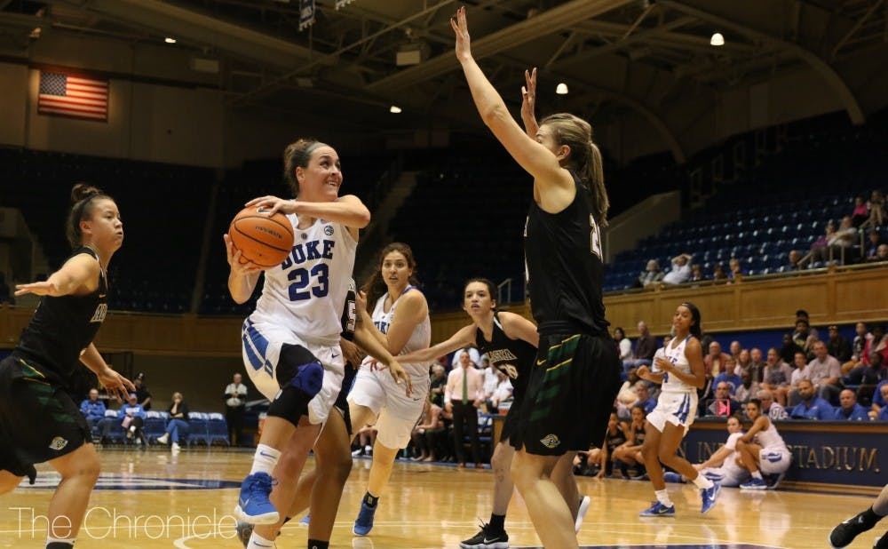 <p>Rebecca Greenwell will look to lead the Blue Devils in her senior campaign.</p>