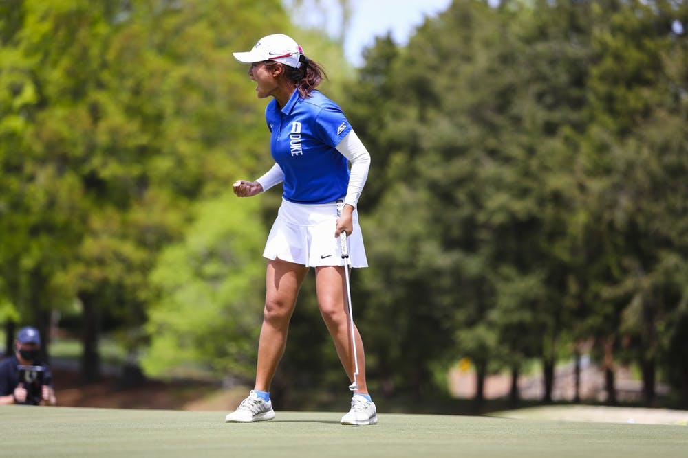 <p>Kim dominated the ACC Championship this season, defeating Beatrice Wallin of Florida State in match play.</p>