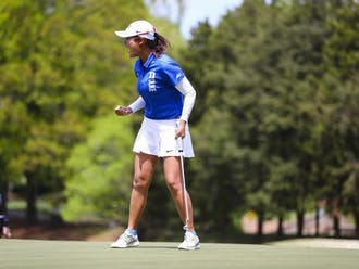 Kim dominated the ACC Championship this season, defeating Beatrice Wallin of Florida State in match play.