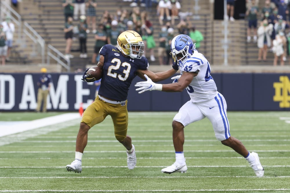 Sophomore running back Kyren Williams torched the Blue Devils for 112 yards and two scores.