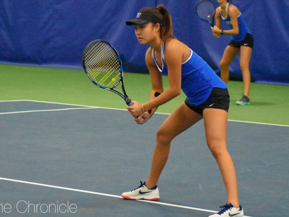 Hannah Zhao graduated early from Torrey Pines High School to enroll at Duke and join the team for the spring semester.