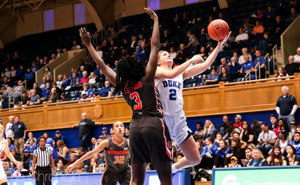 <p>Redshirt junior Haley Gorecki put up a double double in one of her best games of the season against Syracuse.</p>