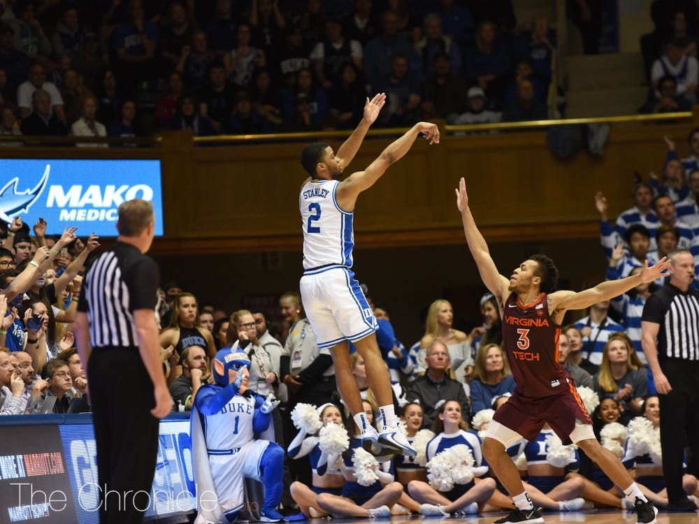 Cassius Stanley nad the Blue Devils made it rain 3-pointers in Cameron Indoor Stadium Saturday.