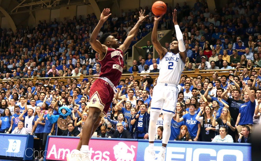 <p>Cam Reddish sparked the Blue Devils with a 24-point performance.</p>