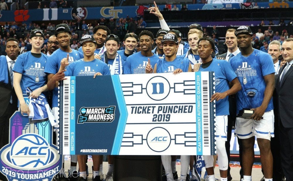 Duke is the No. 1 overall seed in the NCAA tournament.