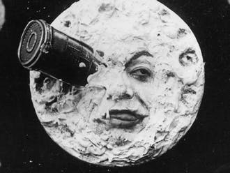 """George Méliès' silent black-and-white film """"A Trip to the Moon"""" birthed """"space movies"""" in 1902."""
