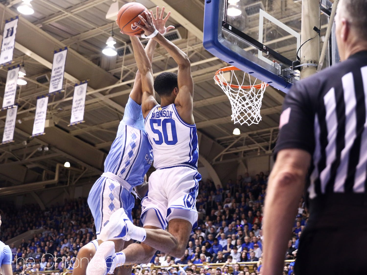 The Duke Blue Devils pull off the regular season sweep of North Carolina after beating the Tar Heels 89-76 in Cameron Indoor Stadium on 03/07/2020.  Photos of the game were taken by Charles York and Eric Wei