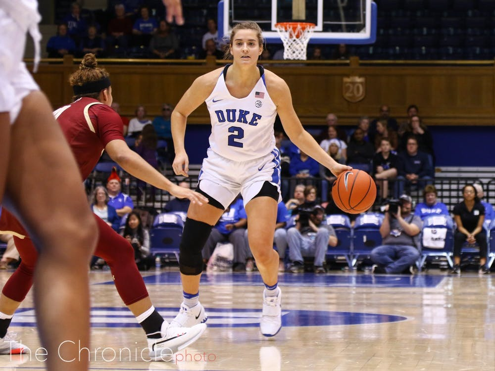 Haley Gorecki led all scorers with 27 points Sunday.