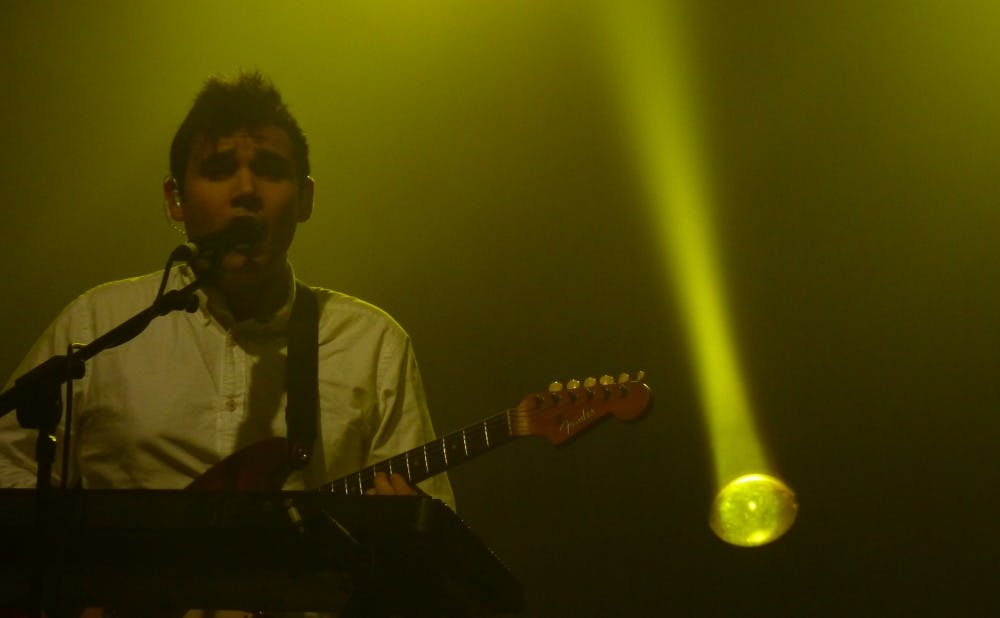 <p>Pictured with Vampire Weekend in 2010, Rostam Batmanglij released his first solo album Friday.</p>