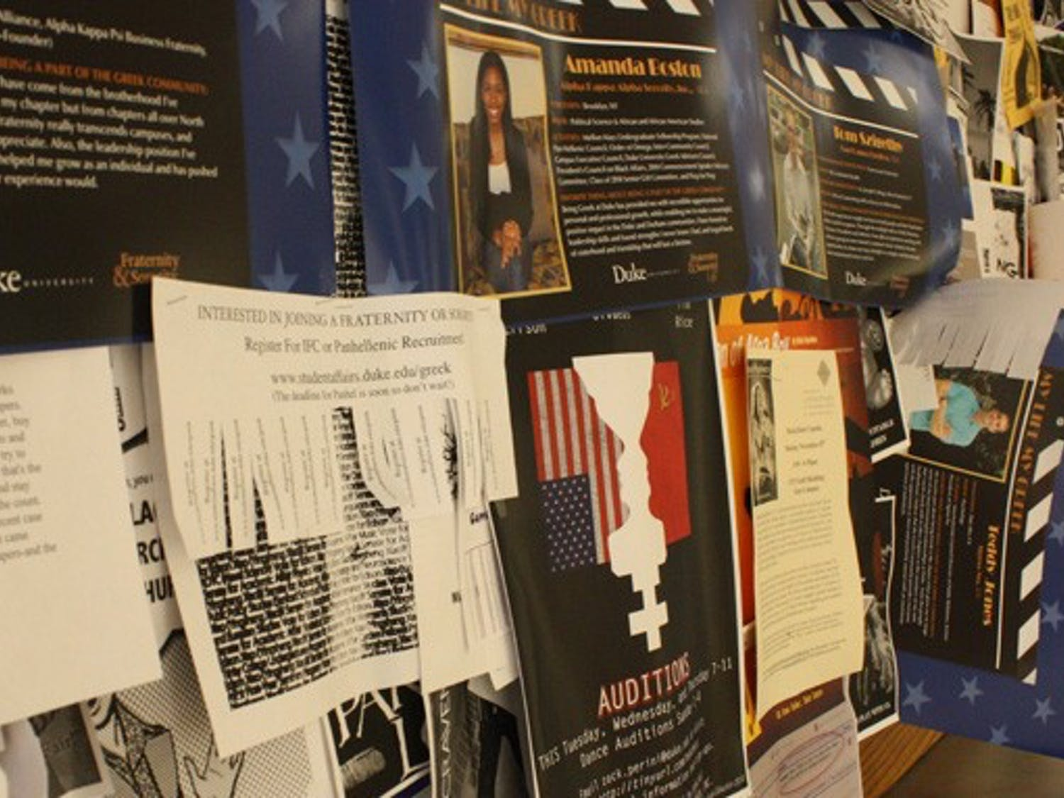 Despite policies prohibiting students from posting fliers in unauthorized areas, it continues to be a problem on campus.