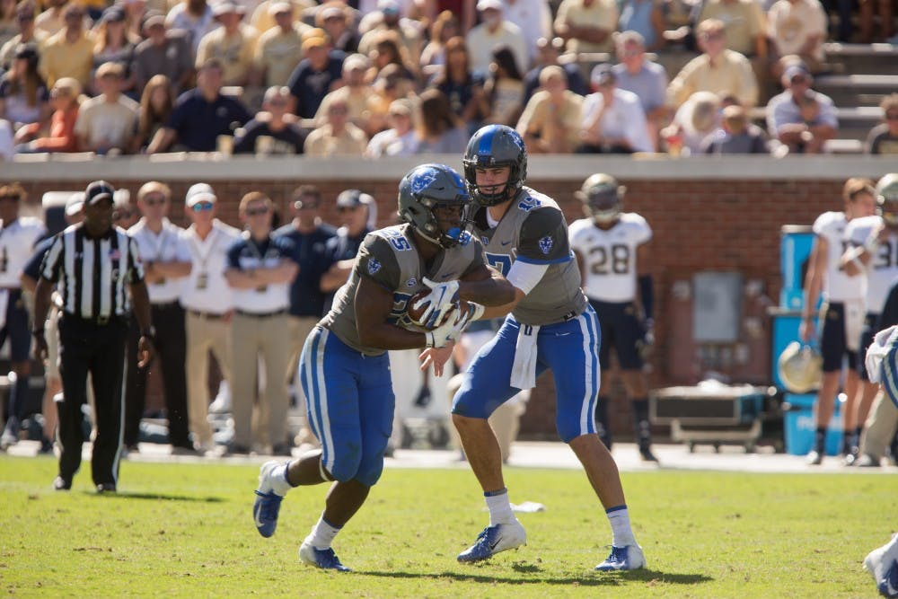 <p>Daniel Jones has struggled to spark the Duke offense since the third quarter against Georgia Tech.</p>