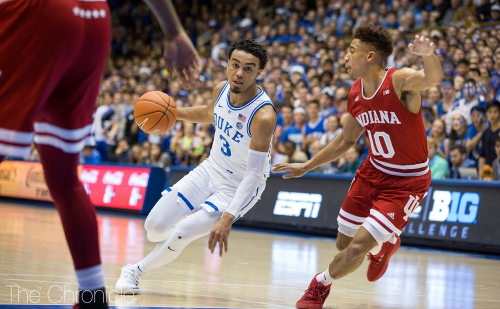 <p>Tre Jones has put his offensive skillset on display the last four games.</p>