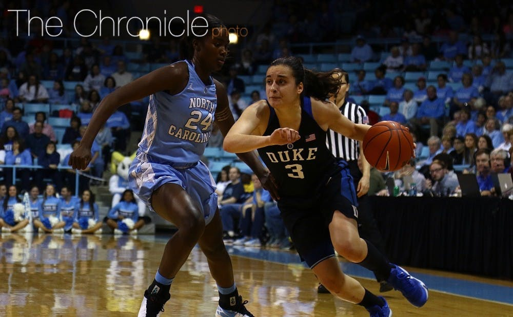 <p>Freshman Angela Salvadores came on strong late in her first season in Durham but will look to continue her career elsewhere.</p>