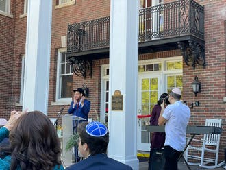 Family and friends of Duke's Jewish community gathered from all around the country to celebrate the Fleishman House's ribbon cutting ceremony Sunday morning.